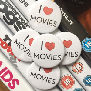 Movie Lovers Pin Badge Or Magnet - pins & brooches