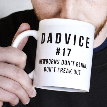 Dad To Be 'Dadvice' Newborns Ceramic Mug