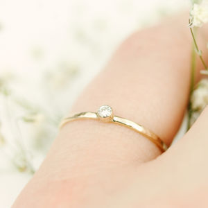 Tiny Diamond Stacking Ring - rings