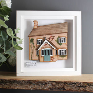 Your Home 3D House Portrait - mixed media & collage