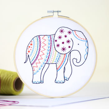 Elephant Contemporary Embroidery Craft Kit