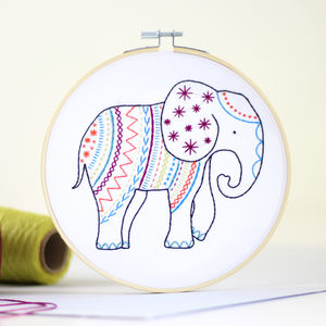 Elephant Contemporary Embroidery Craft Kit - sewing & knitting