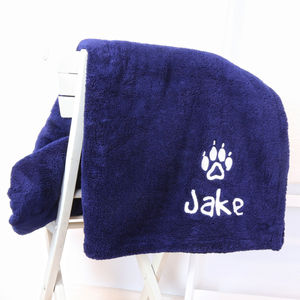 Personalised Luxury Snuggle Dog Blanket - beds & sleeping