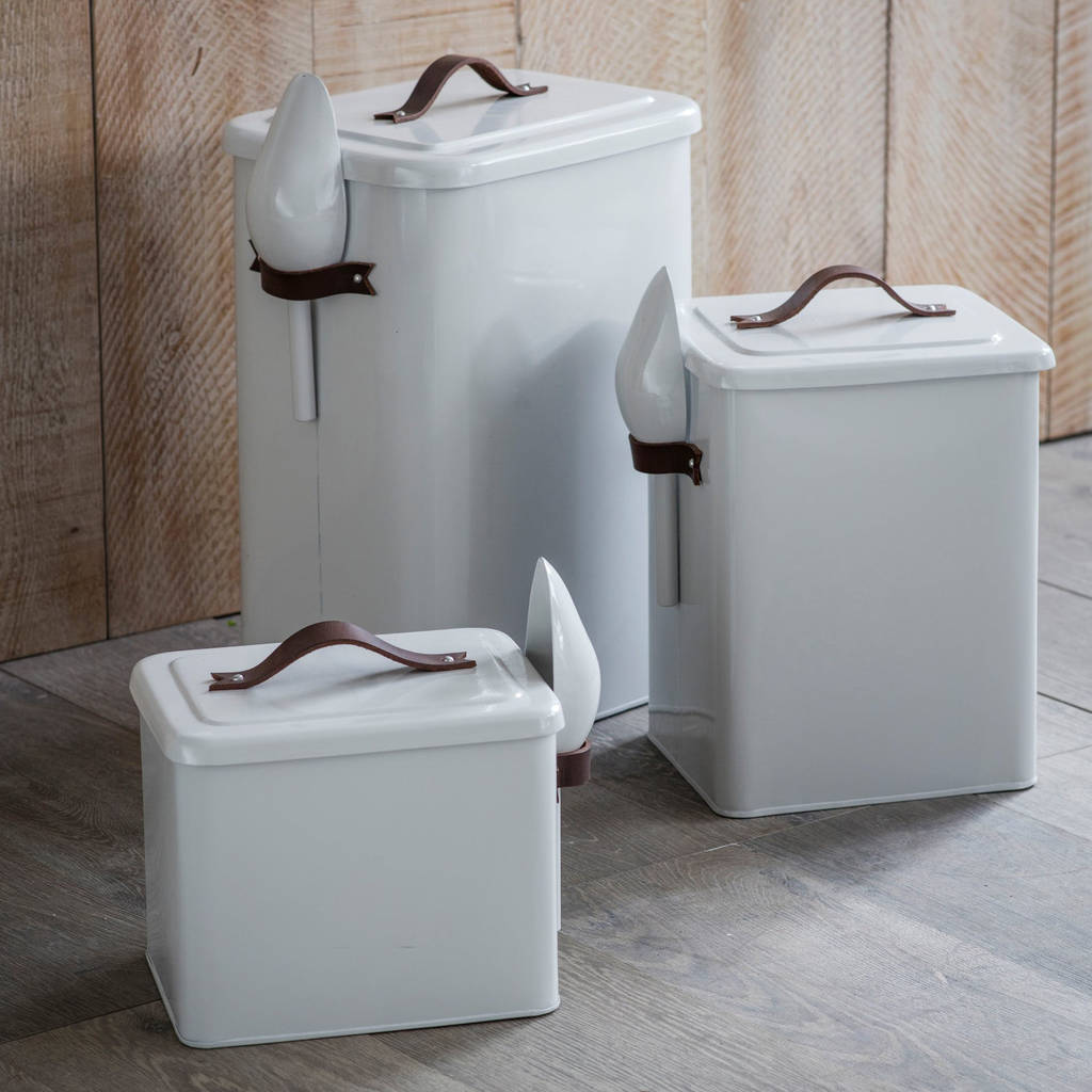 Pet Bin With Leather Handle by All Things Brighton Beautiful