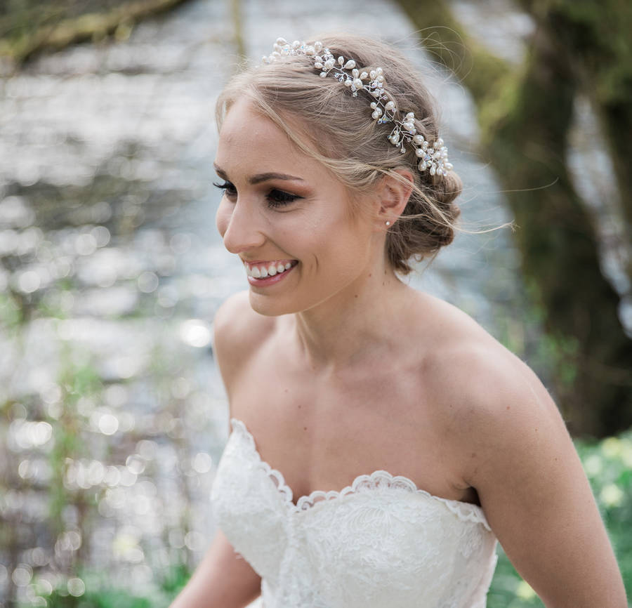 Wedding Hairstyle Crown: Ulyana Bridal Hair Crown Halo By Lhg Designs