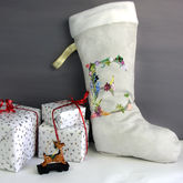 Personalised Floral Letter Christmas Stocking Gift - christmas decorations