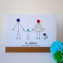 Personalised family print with 1 child