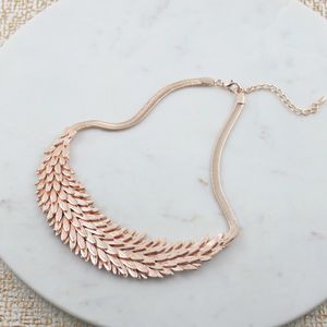 Rose Gold Feather Necklace - necklaces & pendants