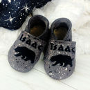 Personalised Moonstone Polar Bear Baby Shoes