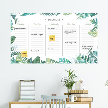 Tropical Dry Wipe Weekly Wall Planner