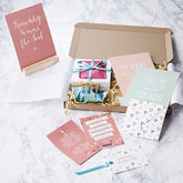 Personalised Friendship In A Box Gift Box - cards