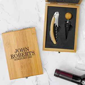 Personalised Wine Bottle Opener Set