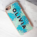 Personalised Tropical Monstera Leaf iPhone Case