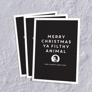 Pack Of Three 'Filthy Animal' Christmas Cards - cards & wrap