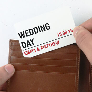 Personalised 'Street Sign' Special Day Wallet Card