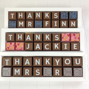 Personalised Thank You Teacher Gift In Chocolate