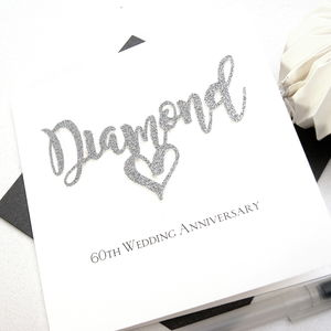 Diamond 60th Wedding Anniversary Card - anniversary cards