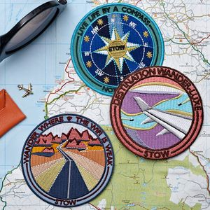 Embroidered Adhesive Travel Patches Set Of Three