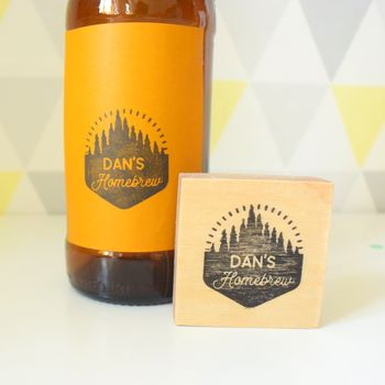 Personalised Craft Brewery Style Homebrew Stamp