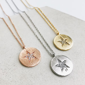 Personalised Sparkling Star Necklace