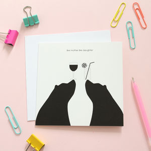 Bear Like Mother Like Daughter Card