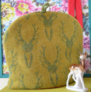 Stag Head Knitted Tea Cosy - tea & coffee cosies