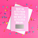 Sister Friendship Quote Birthday Scratch Card