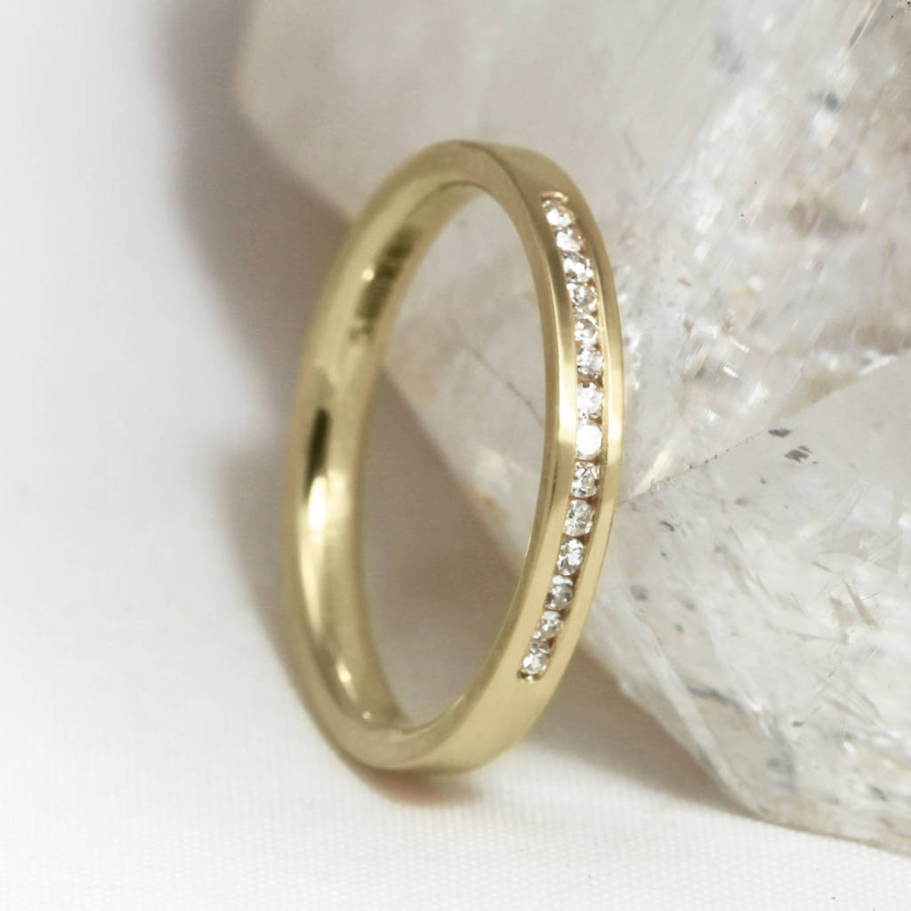 3mm D Profile 18ct Gold 'Clontibret' Eternity Ring