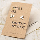 Written In The Stars Silver Earrings