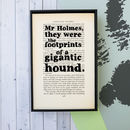 Sherlock Holmes Quote Book Art