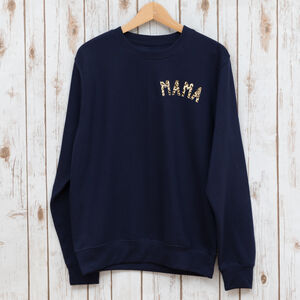 Mama Sweatshirt With Leopard Print
