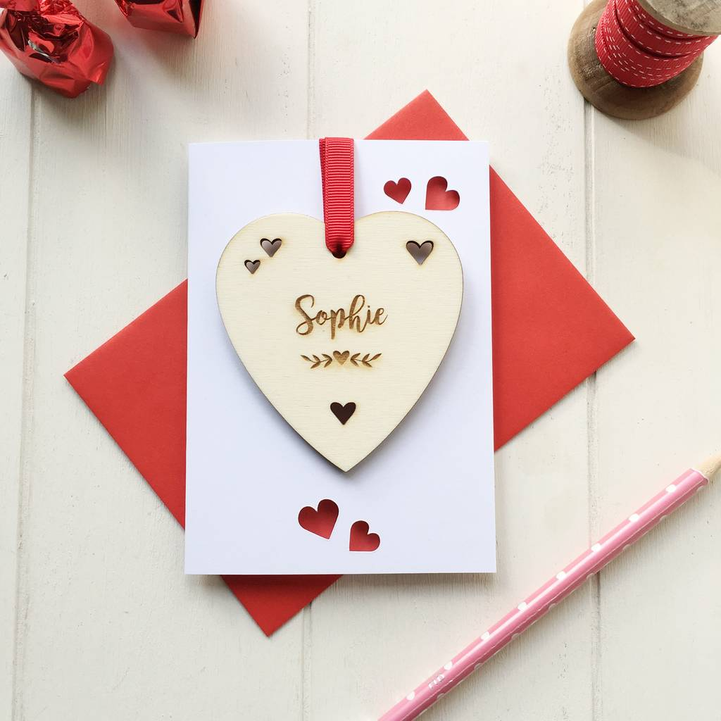 Personalised Valentines Secret Message Love Token Card