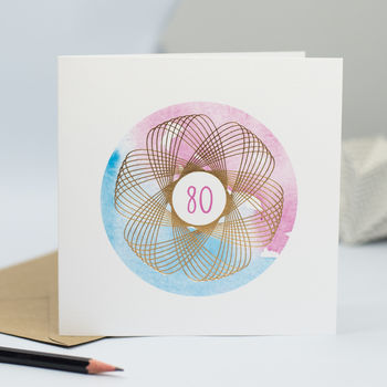 80th Birthday Card For Him Or Her With Gold Foiling
