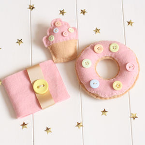 Felt Donut Pincushion And Cupcake Brooch Sewing Kit