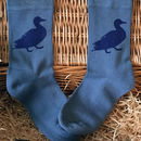 Bamboo Super Socks Hand Printed Duck