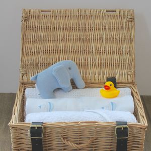 Baby Boy Hamper Gift - blankets, comforters & throws