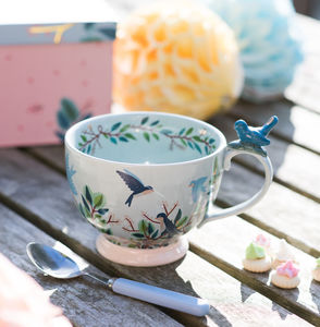 Hummingbird Large China Teacup - gifts for mothers