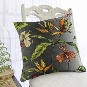 Tropical Hothouse Botanical Print Cushion - cushions