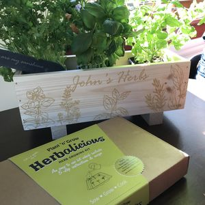 Indoor And Outdoor Herb Growing Kit - gifts for fathers