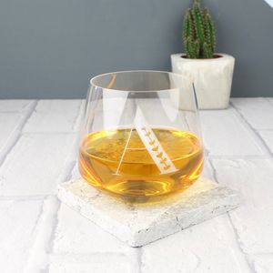 Engraved Initial Whisky Glass - new in home