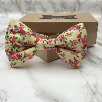 Fingle Flower Dog Bow Tie