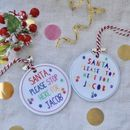 Personalised Santa Stop Here Decoration