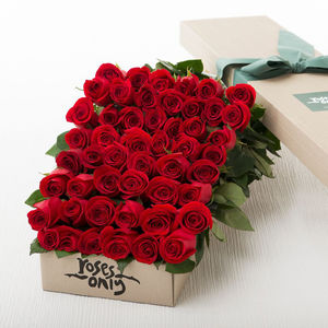 Red Rose Valentines Or Ruby Wedding Anniversary Bouquet - 40th anniversary: ruby