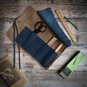 Leather And Suede Tool Roll