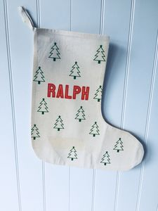 Scandinavian Style Personalised Stocking