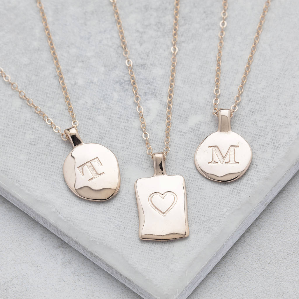 Personalised rose gold initial necklace by under the rose personalised rose gold initial necklace aloadofball Choice Image