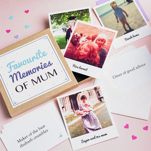 'Favourite Memories' Box - mother's day cards & wrap