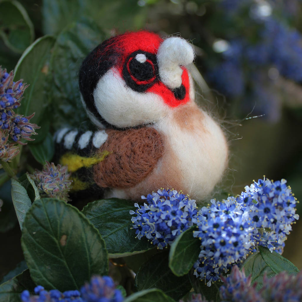 Needle Felted Goldfinch Bristish Bird Ornament