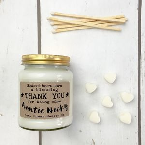 Personalised 'Godmothers Are A Blessing' Soy Candle - home accessories