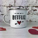 'You Had Me At Netflix' Enamel Mug